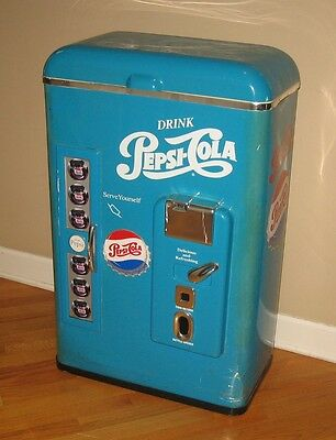 "Vintage Pepsi ""vending Machine Design"" Plastic Cooler - 1992 - Very Rare!"
