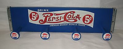PEPSI COLA Decorative Wooden Coat Clothes Hanger - Unique!