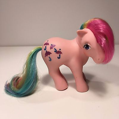My little Pony G1 Parasol 1984 Rainbow Pony Bowtie Pose