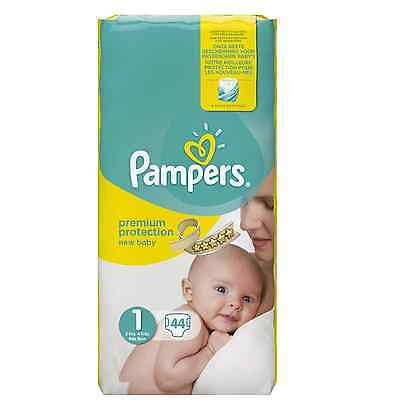 ✿ 220 COUCHES PAMPERS NEW BABY PREMIUM PROTECTION TAILLE 1 (2/5 kg) ✿