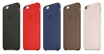 Genuine Apple iPhone 6 Plus / 6s Plus LEATHER Case Cover - Various Colors - NEW