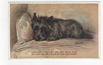 Scottish Terrier Vintage  Dog Postcard Mac Lucy Dawson 1933