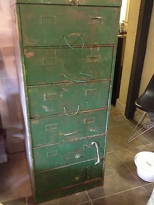 Retro industrial style filing cabinet in need of some tlc (vintage/antique)