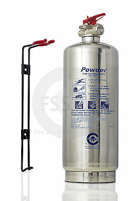 Chrome Silver 2 Kg Dry Powder Abc Fire Extinguisher Home Office Vans Kitchen. Ce
