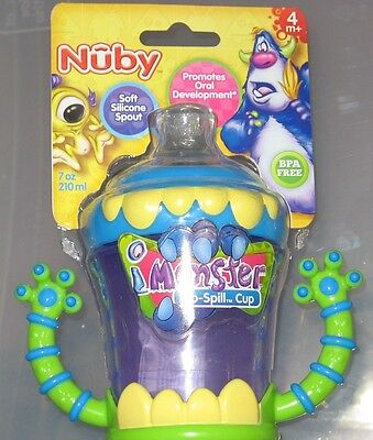 Nuby Monster No Spill Sippy Cup NIP