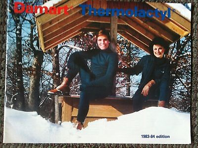 Vintage 1983-84 DAMART THERMOLACTYL CATALOG Insulated Outdoor Wear