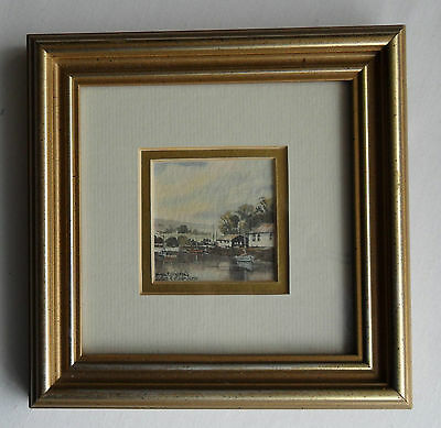 Original Miniature Framed Watercolour Painting By Martin Goode
