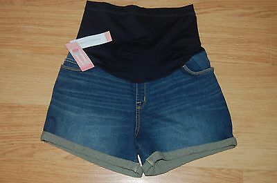 MATERNITY Shorts Blue Size M Women MIDI STRETCHY 3 in 1 FLEX PANEL by Liz Lange