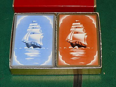 VINTAGE collectible BROWN & BIGELOW  tall ships playing cards