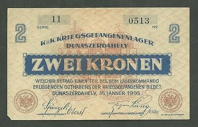 Currency Paper Money Note Austria/ Dunaszerdahely Prisoner War Note Pick#1361