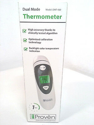 Medical Ear Thermometer Forehead Function iProven DMT-489 [MR95-DM9]