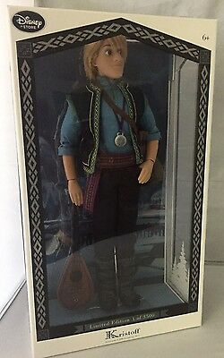 "Disney Store Kristoff Frozen Limited Edition 17"" Doll New In Box"