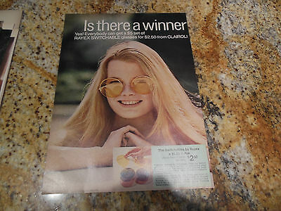 Original 1969 Clairol Rayex Switchables Sun Glasses Interchangeable Lenses Ad