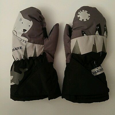 Dakine Boys Polar Bear Winter Snow Gloves Toddler Medium Size 1 - 2