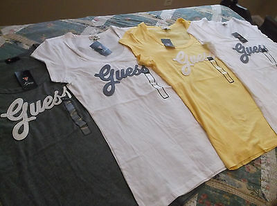 Lot of 4 Guess T-Shirts Womens Size Large NWT
