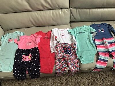 New! Size 24 Months Lot of Baby Girls Clothes Outfits onesies Pants Carters 24M