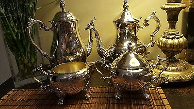 Antique F.B Rogers Silver Plated Co Trademark 1883 4 pc Tea/Coffee Set