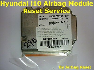 Airbag Module ECU Crash Data Reset Service By Post For Hyundai i10