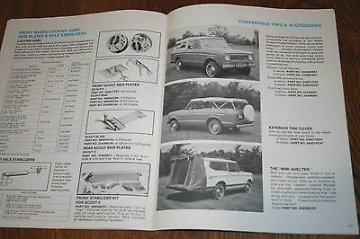 Rare 1974 International Harvester Scouts Trucks Accessories Sales Brochure