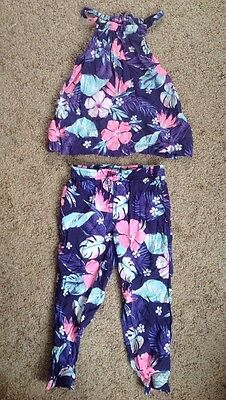 Toddler Girls Carter's Outfit Pants & Tank Top Shirt 2T