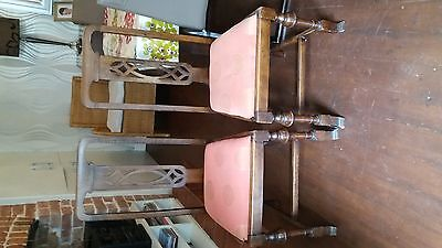 antique set of dining chairs