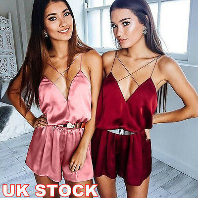 NEW Womens Mini Jumpsuit Summer Holiday Casual Party Beach Dress Shorts Playsuit