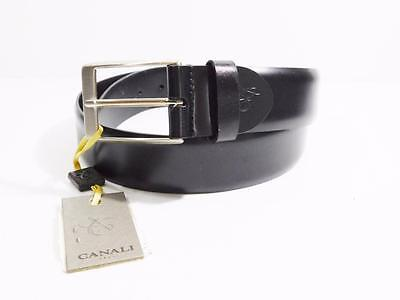 Canali Men's Genuine Leather Black Belt NWT Size 32 MSRP $155 B6