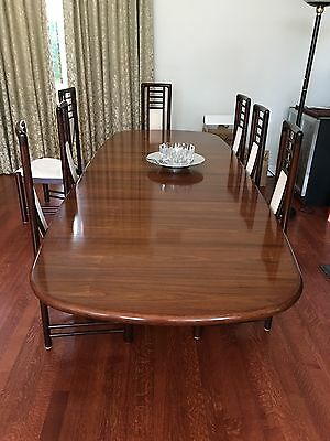 Gudme Danish Mid-Century Modern Rosewood Dining Set with 2 Leafs & 8 Chairs
