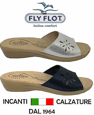 FLY FLOT - MADE IN ITALY - ciabatte plantare pelle sanitarie donna anatomico