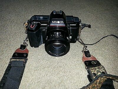 minolta maxxum 5000 camera with af 50mm lens