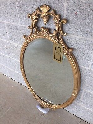Friedman Brothers Gilt Gold Rococo Style Beveled Mirror