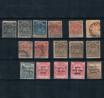 Rhodesia 1890-94,1896 British south africa company Used,no gum,MH Lot