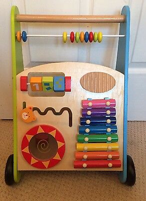Wooden Activity Baby Walker Colourful