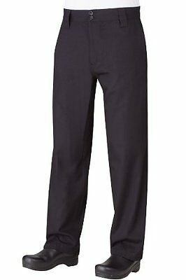 Chef Works Men's Professional Chef Pant (PS005), Black, Size 36