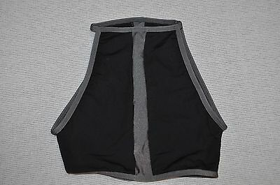 NWT Double Platinum  Adult  size Small black and gray Crop Bra Top  item # N7351