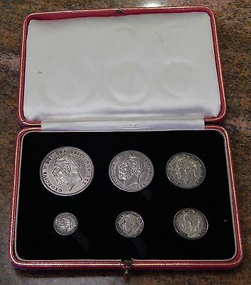 1927 6 Piece Great Britain Silver Proof Set Original WOW!