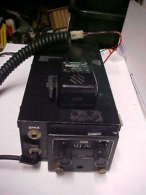 FINAL aire sciences 12vdc aircraft mobile radio rt-551 transceiver mic #14c77