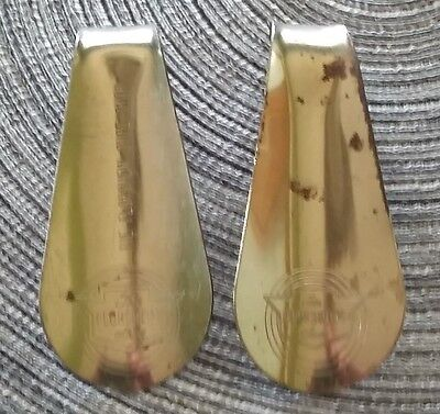 Vintage Pair of Florsheim Metal Shoehorns