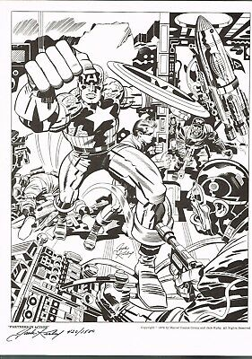 Partners in Action by Jack kirby Hand Signed and Numbered Print 420/1500
