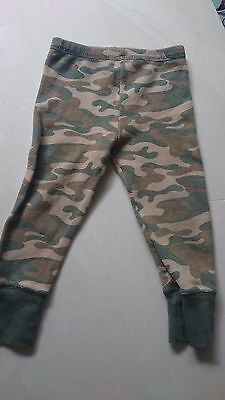 Organic Pajama Pants 18 Months Baby Boy or Girl Camouflage Thermal