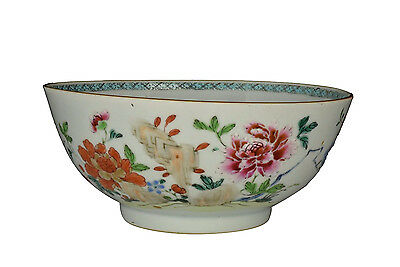 Nice 18th Century Antique Chinese Famille Rose Porcelain Bowl