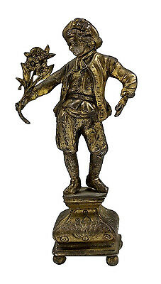 18th Century Dutch Heavy Cast Silver Figure