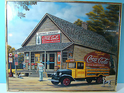 COCA-COLA 1995 PAMELA RENFROE ART PRINT - 20 X16 Coke Adverisment
