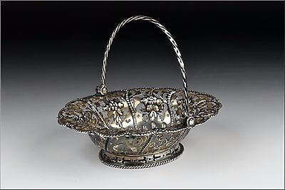 18th Century English Sterling  Silver Reticulated Basket w/ London Hallmarks