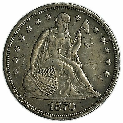 1870 Seated Liberty Dollar, Large, Rare, Silver Coin [3127.105]