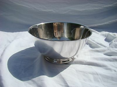 "PAUL REVERE Reproduction Oneida Silversmiths Bowl 8"" Footed Pedestal - Vintage"
