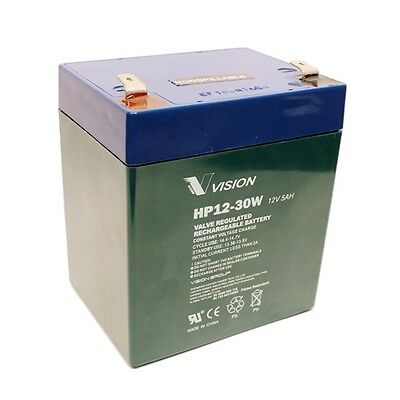 Vision HP12-30W 12V 5Ah 30W High Rate UPS Sealed Lead Acid Battery