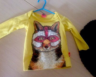 Rock Your Baby Mustard Yellow Fox Top Excellent Condition Size 00 (generous sz)