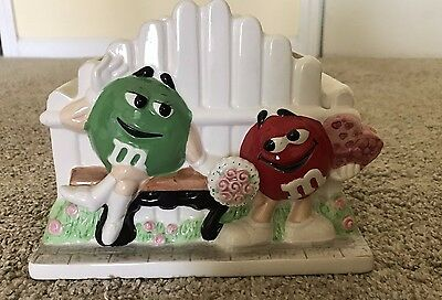 M & M Candy Green and Red Valentine Flower Pot