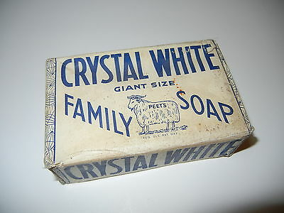 Vintage Unopened Bar of Crystal White Family  Soap